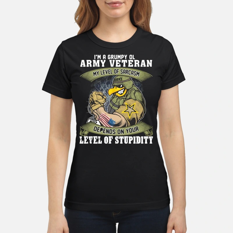 I'm a grumpy old Army Veteran my level of sarcasm depends on your level of stupidity classic women