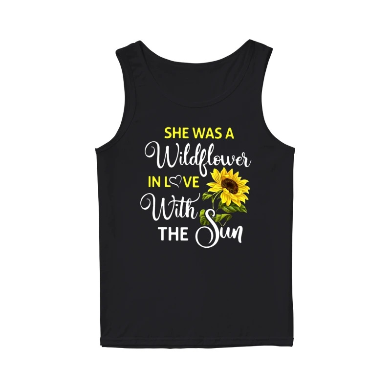 Melanie Koulouris she was a wildflower in love with the sun tank top