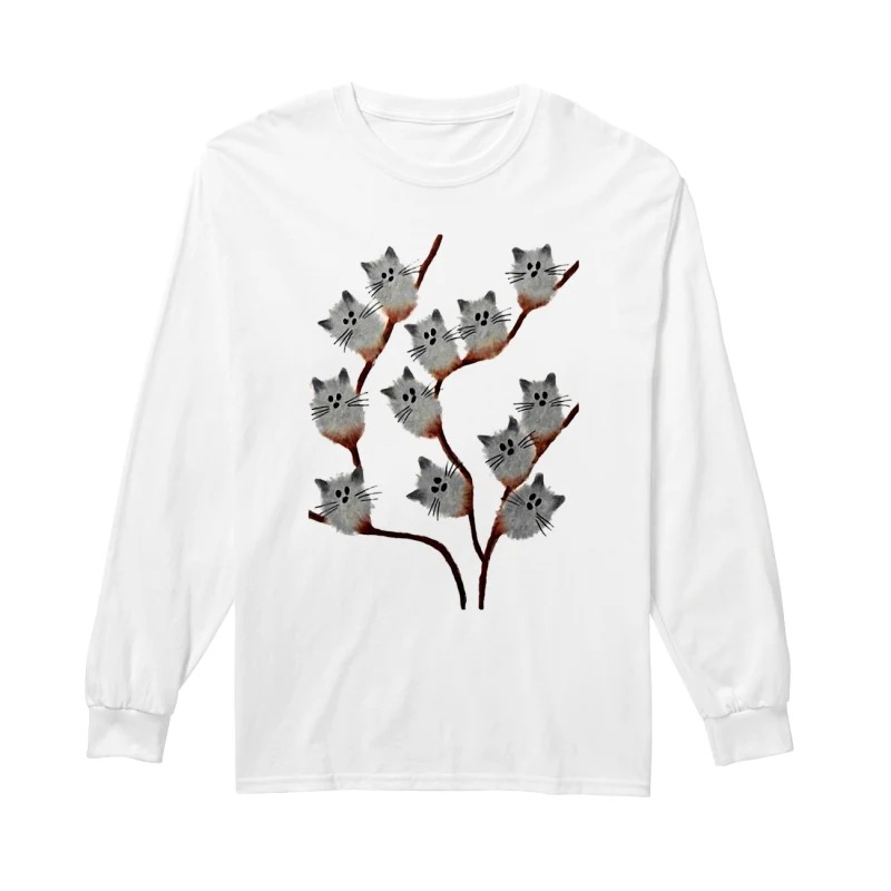 Official Cats on tree long sleeve