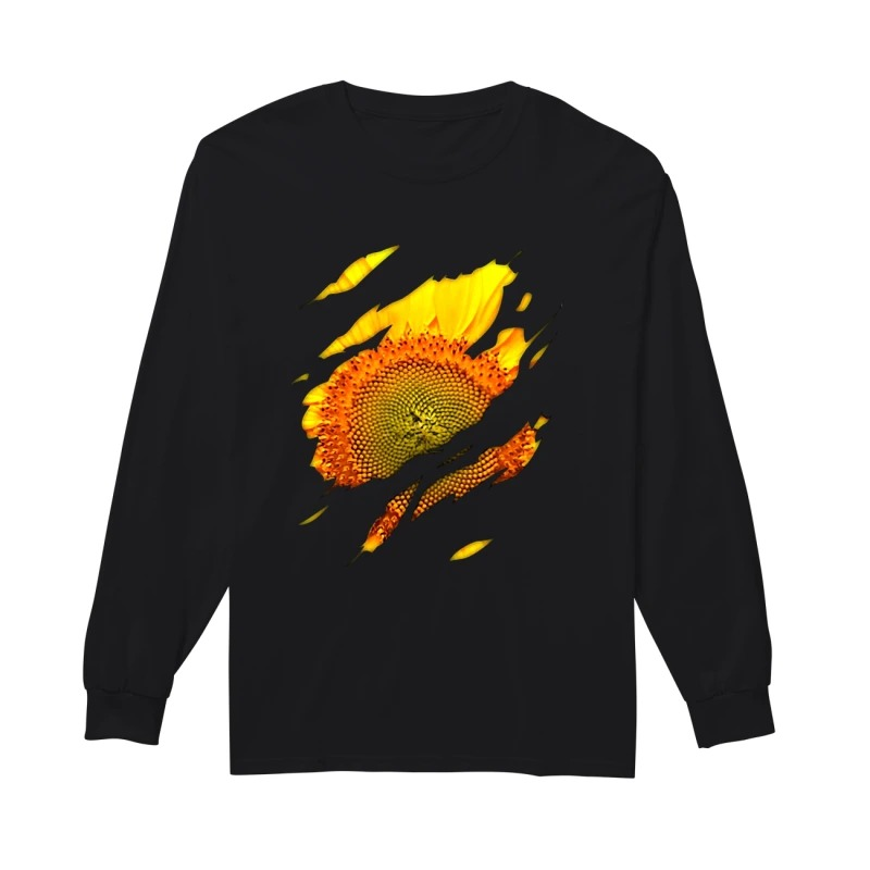 Official sunflower macro long sleeve