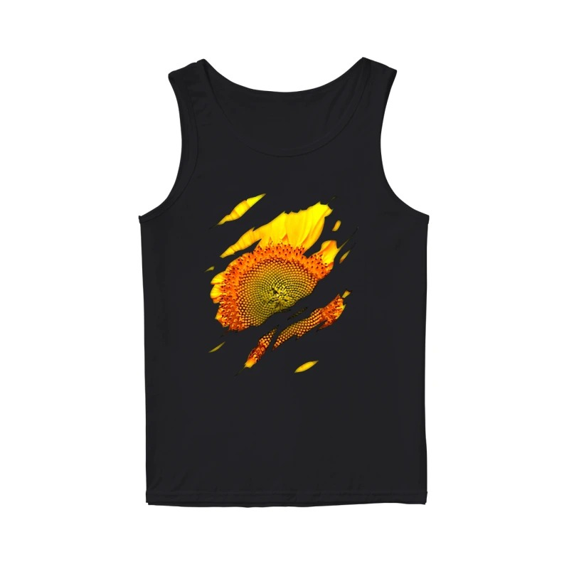 Official sunflower macro tank top