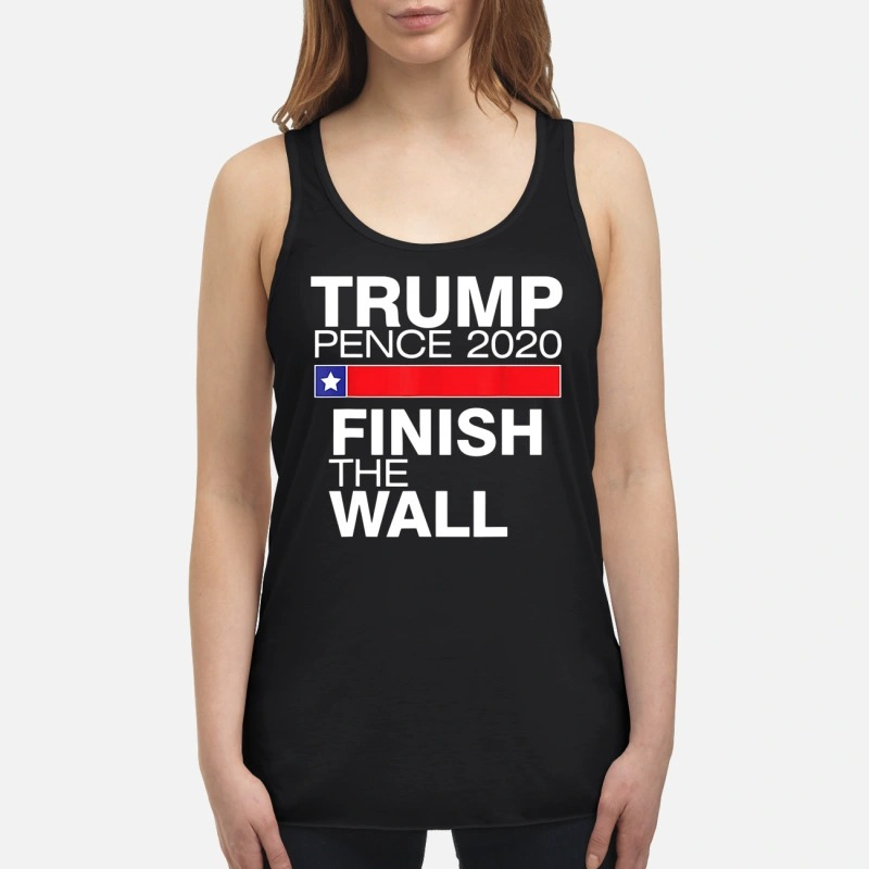 Official Trump pence 2020 finish the wall flowy tank
