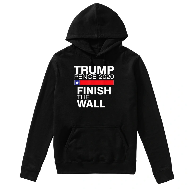 Official Trump pence 2020 finish the wall hoodie