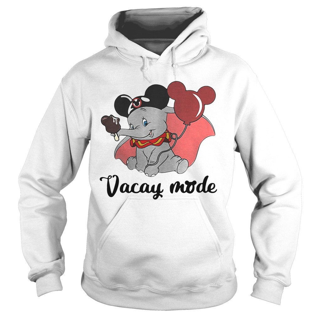 Baby elephant cream and balloons Mickey Mouse vacay mode hoodie