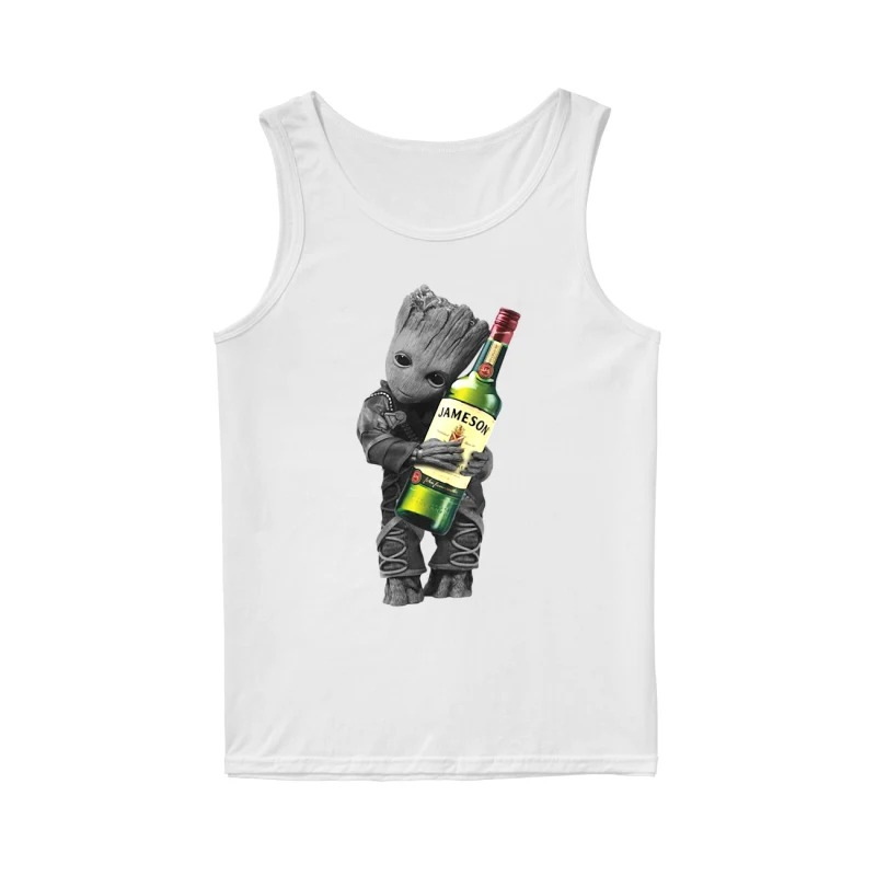 Baby Groot hug Jameson Irish Whiskey tank top