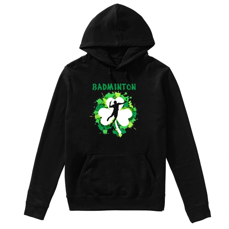 Badminton Shamrock Irish St Patty's Day Sport For Badminton Lover long sleeve