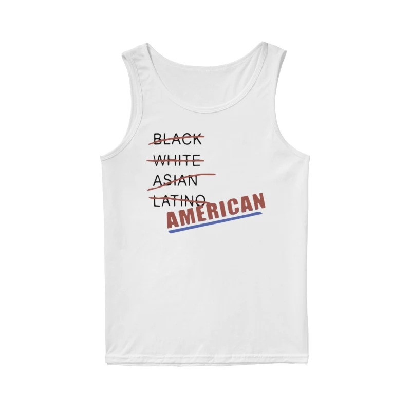Black white Asian latino American tank top