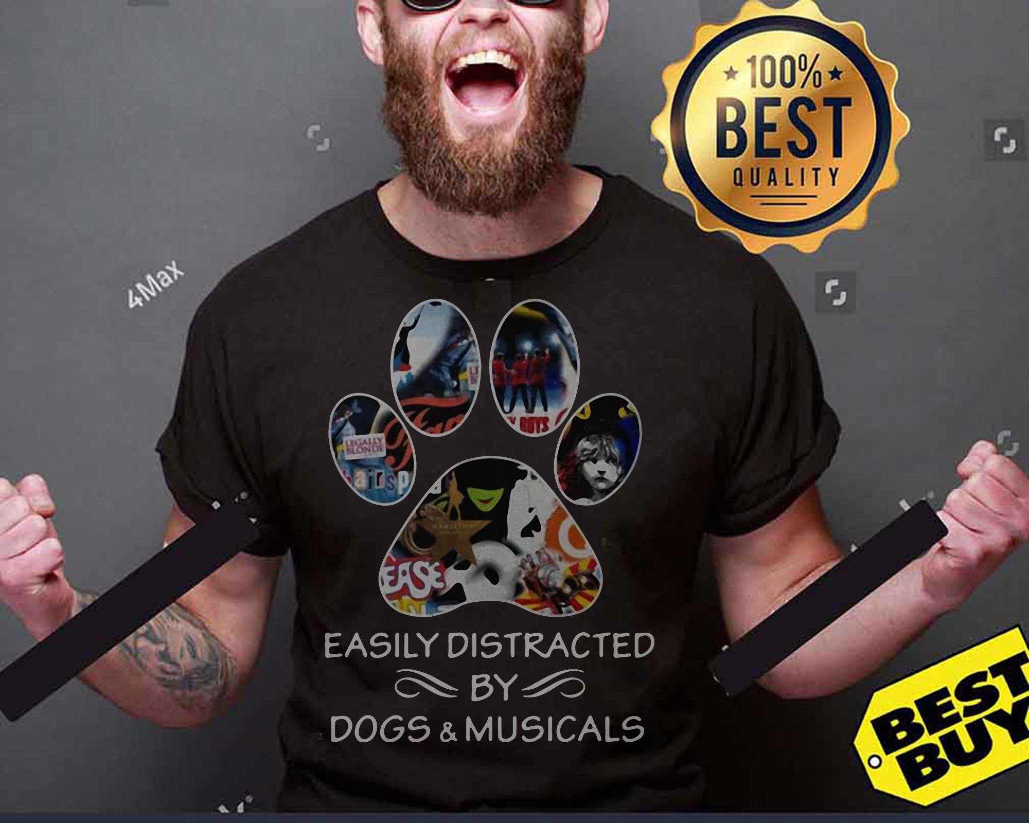 Broadway easily distracted by dogs and musicals tank top