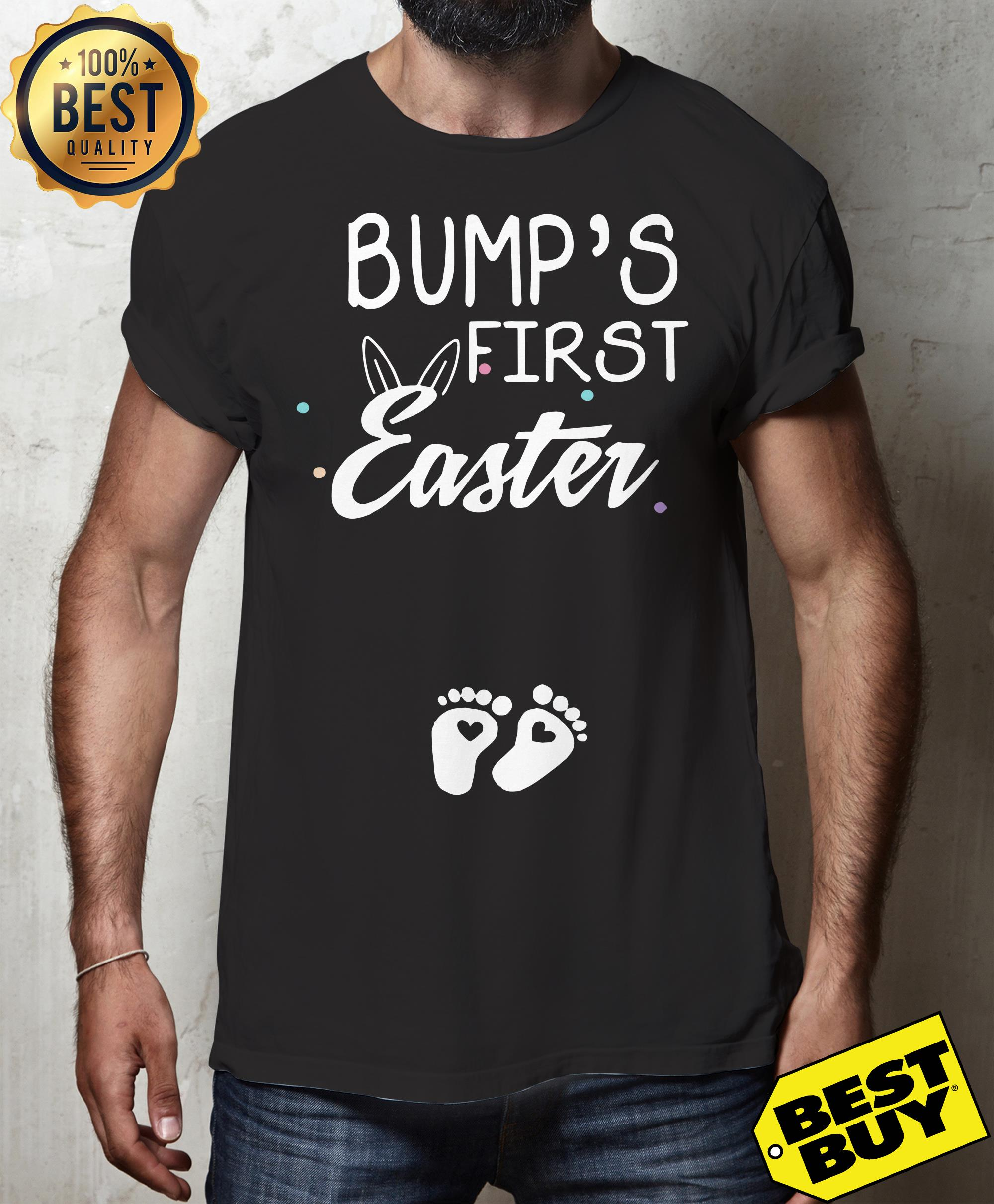 Bump's first easter foot kid funny tank top