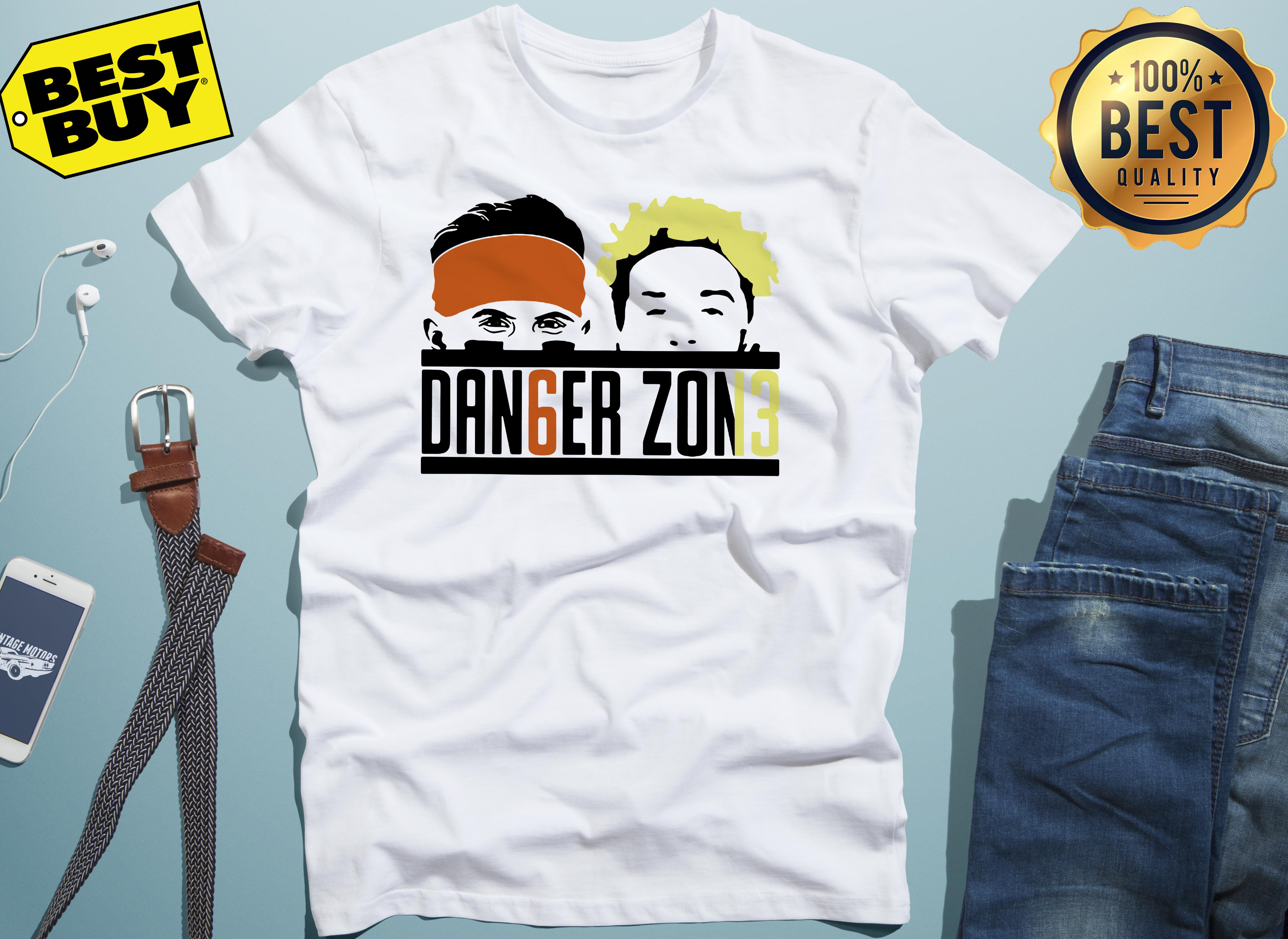 Cleveland Browns Odell Beckham Jr Baker Mayfield danger zone v-neck