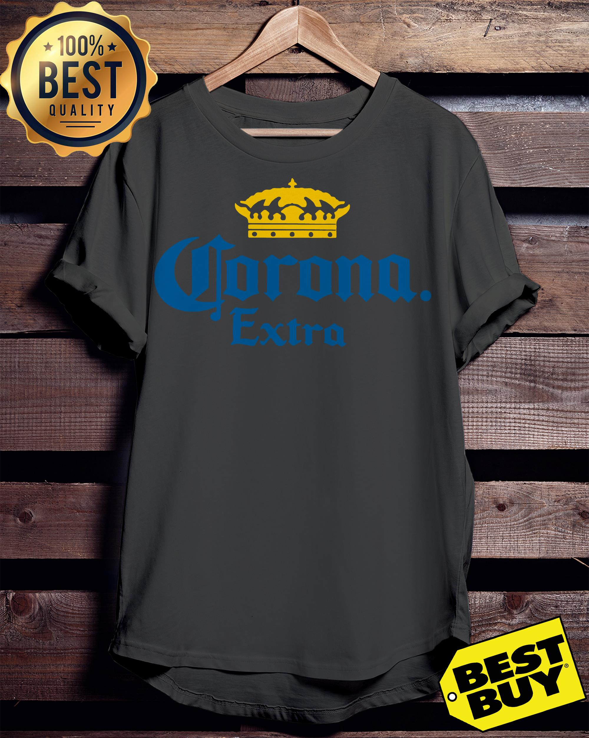 Corona Extra Men's Beer Crown Logo ladies tee