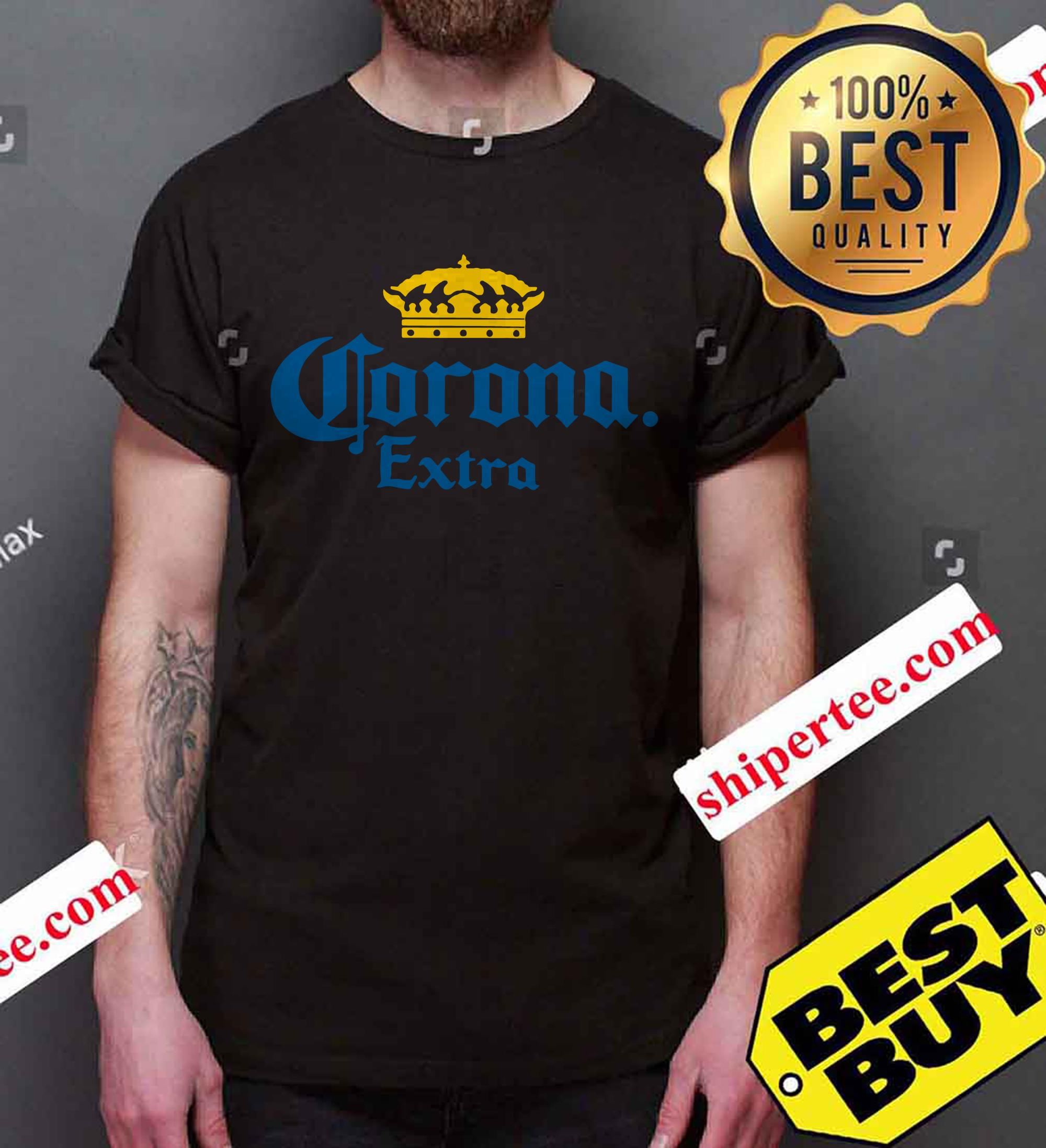 Corona Extra Men's Beer Crown Logo shirt