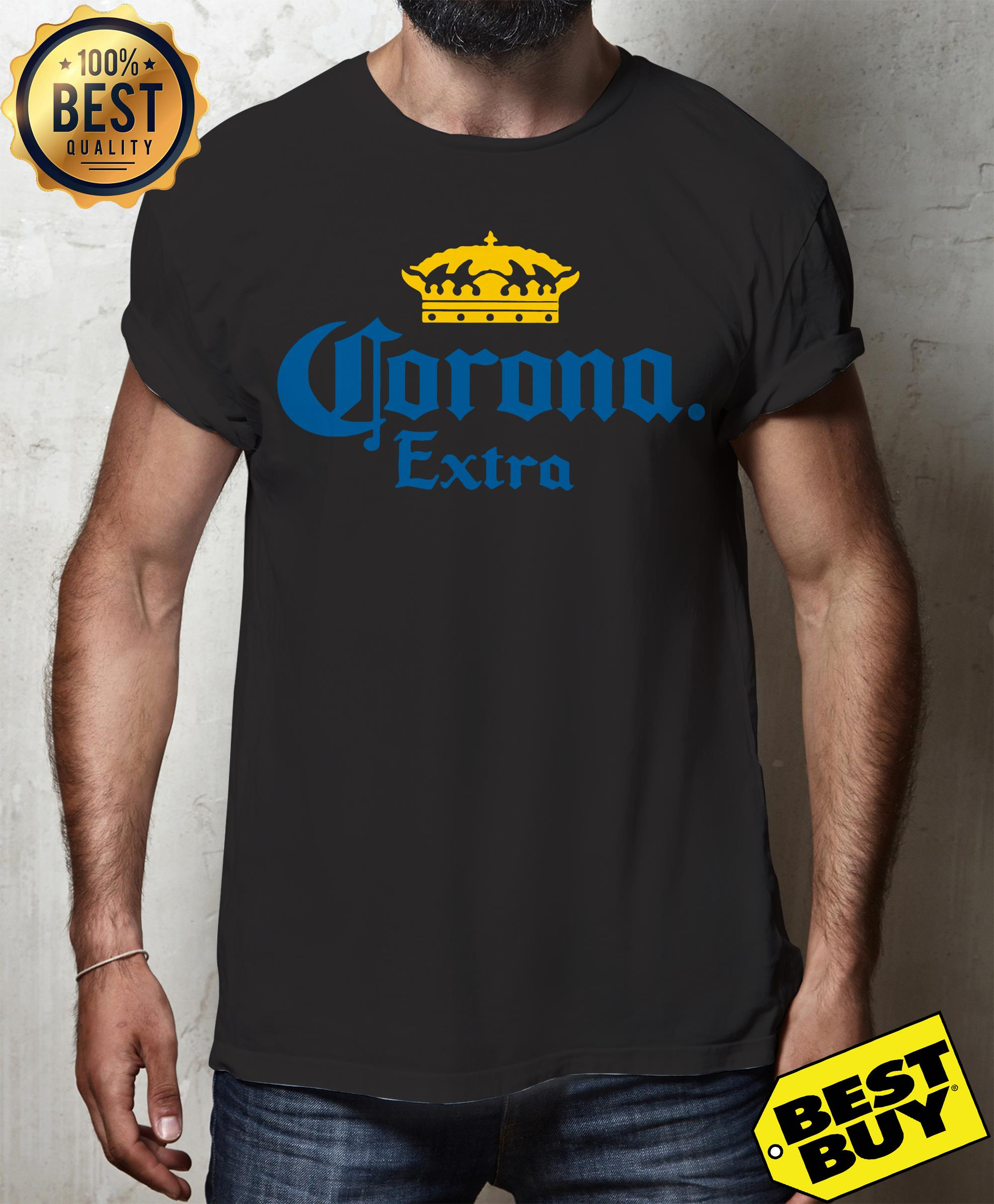 Corona Extra Men's Beer Crown Logo v-neck