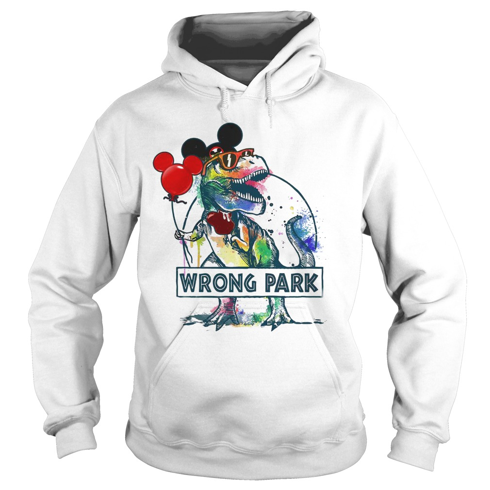 Dinosaur Trex and Mickey Mouse wrong Park hoodie