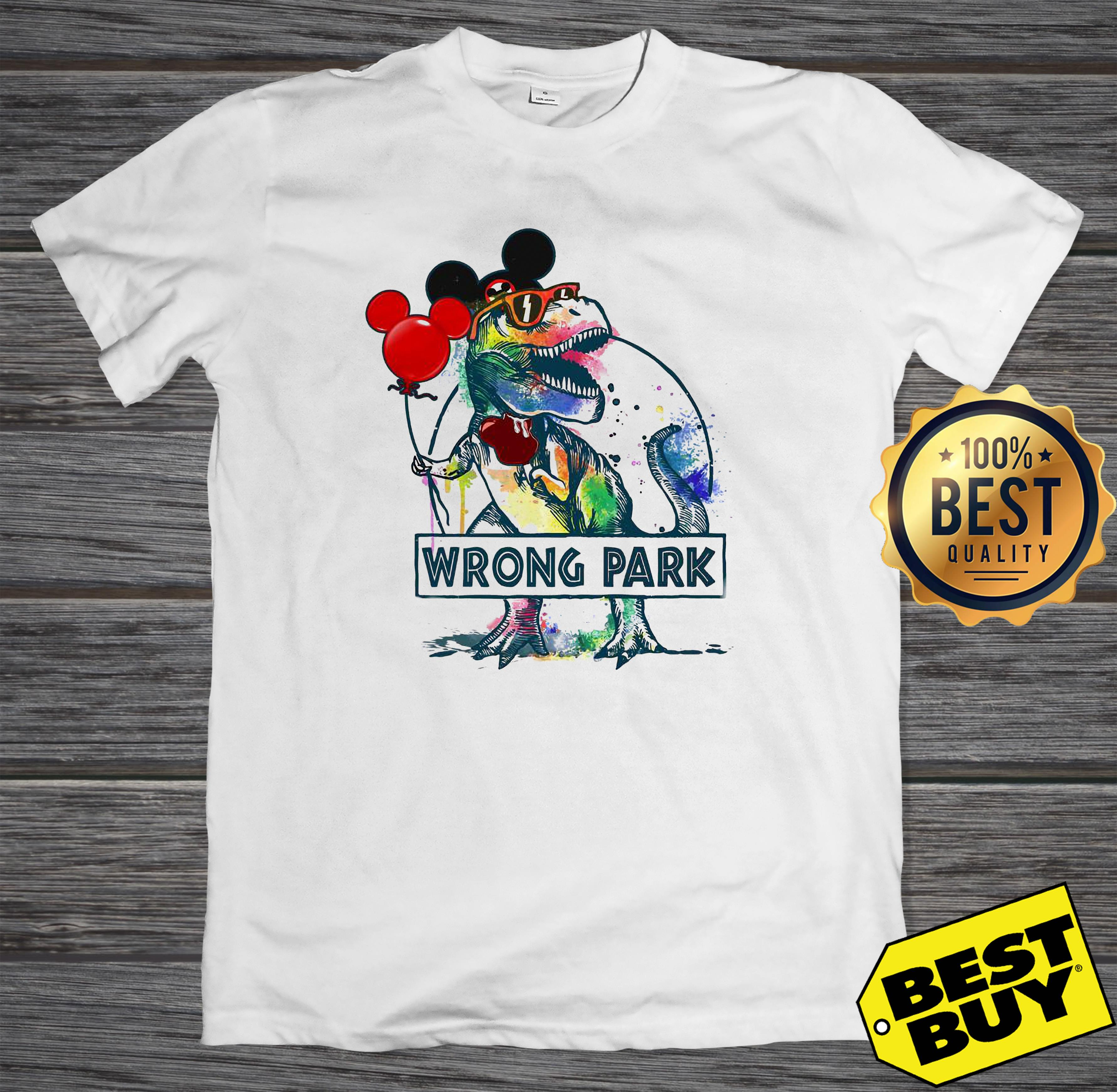 Dinosaur Trex and Mickey Mouse wrong Park tank top