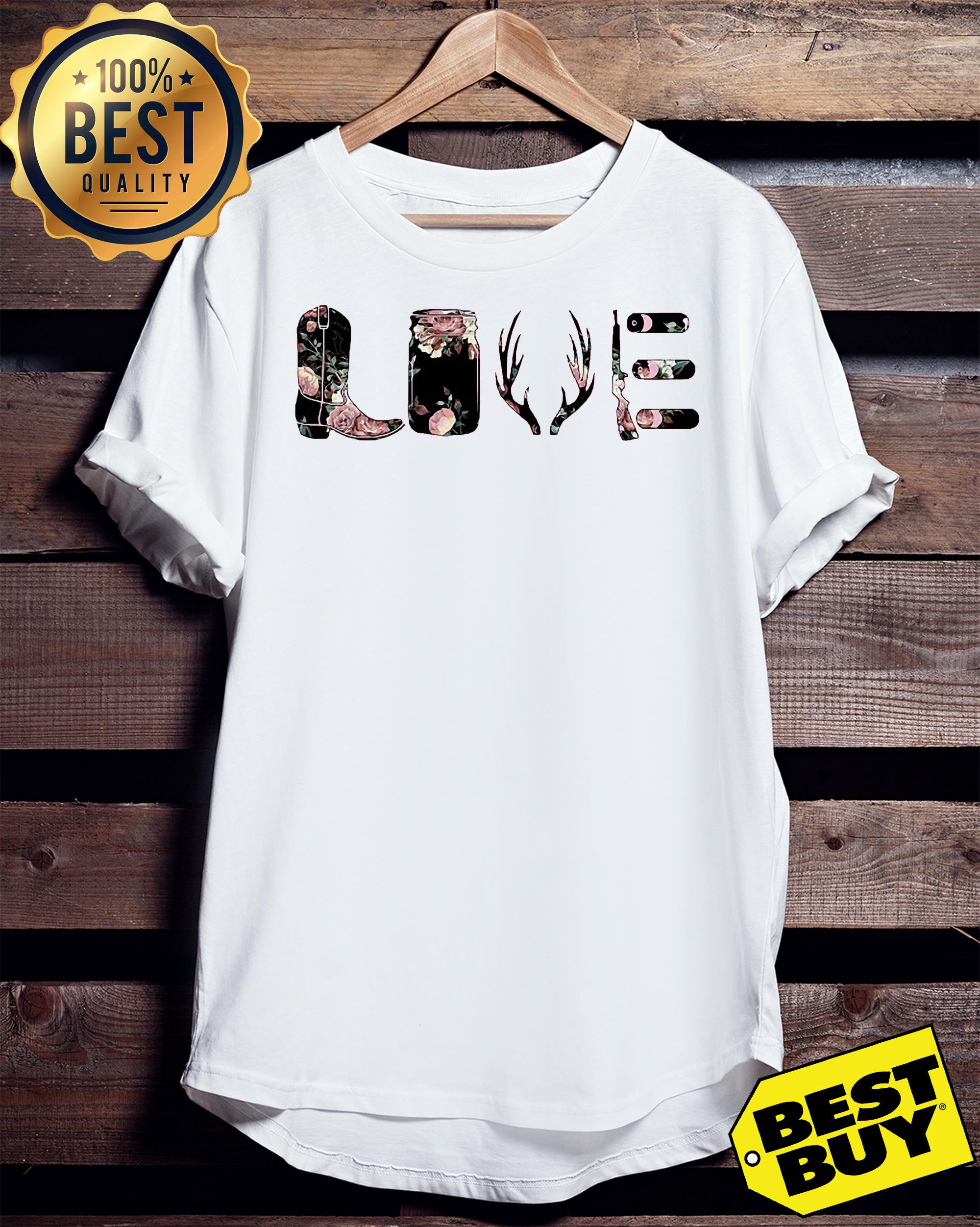 Flower Rose Love funny v-neck