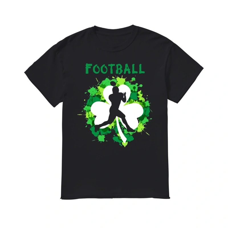 Football Shamrock Irish St Patty's Day Sport Shirt For Football Lover classic men