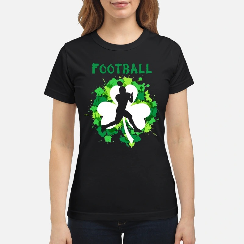 Football Shamrock Irish St Patty's Day Sport Shirt For Football Lover classic women