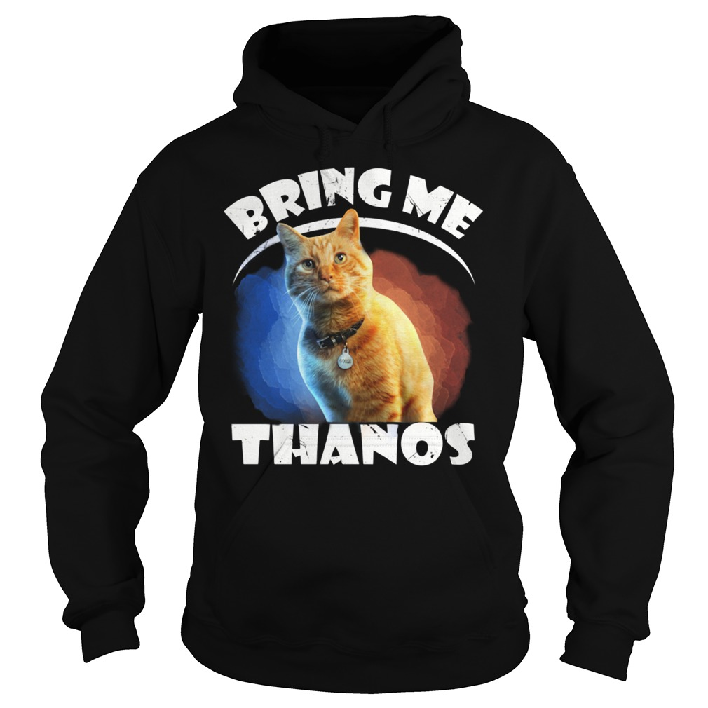 Goose the cat bring me Thanos funny hoodie