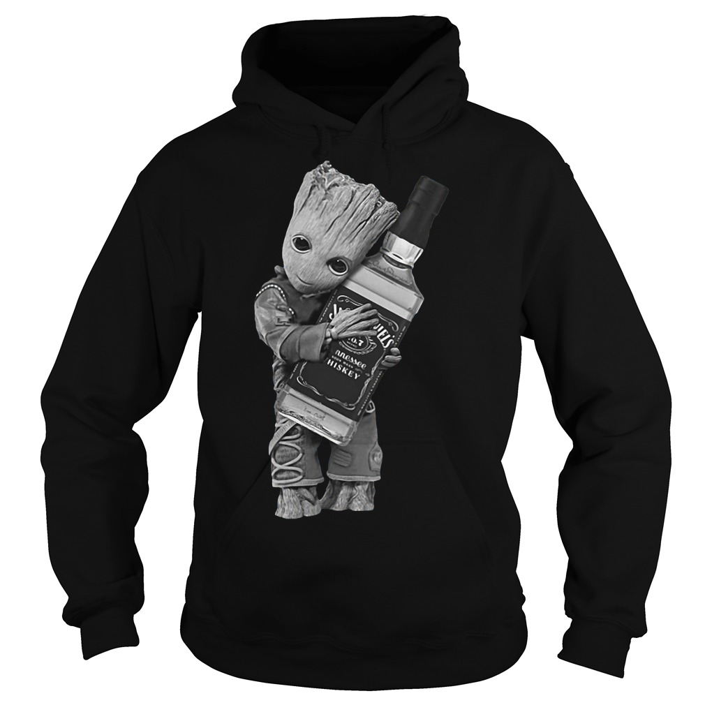 Guardians of the Galaxy Groot hug Jack Daniel's hoodie
