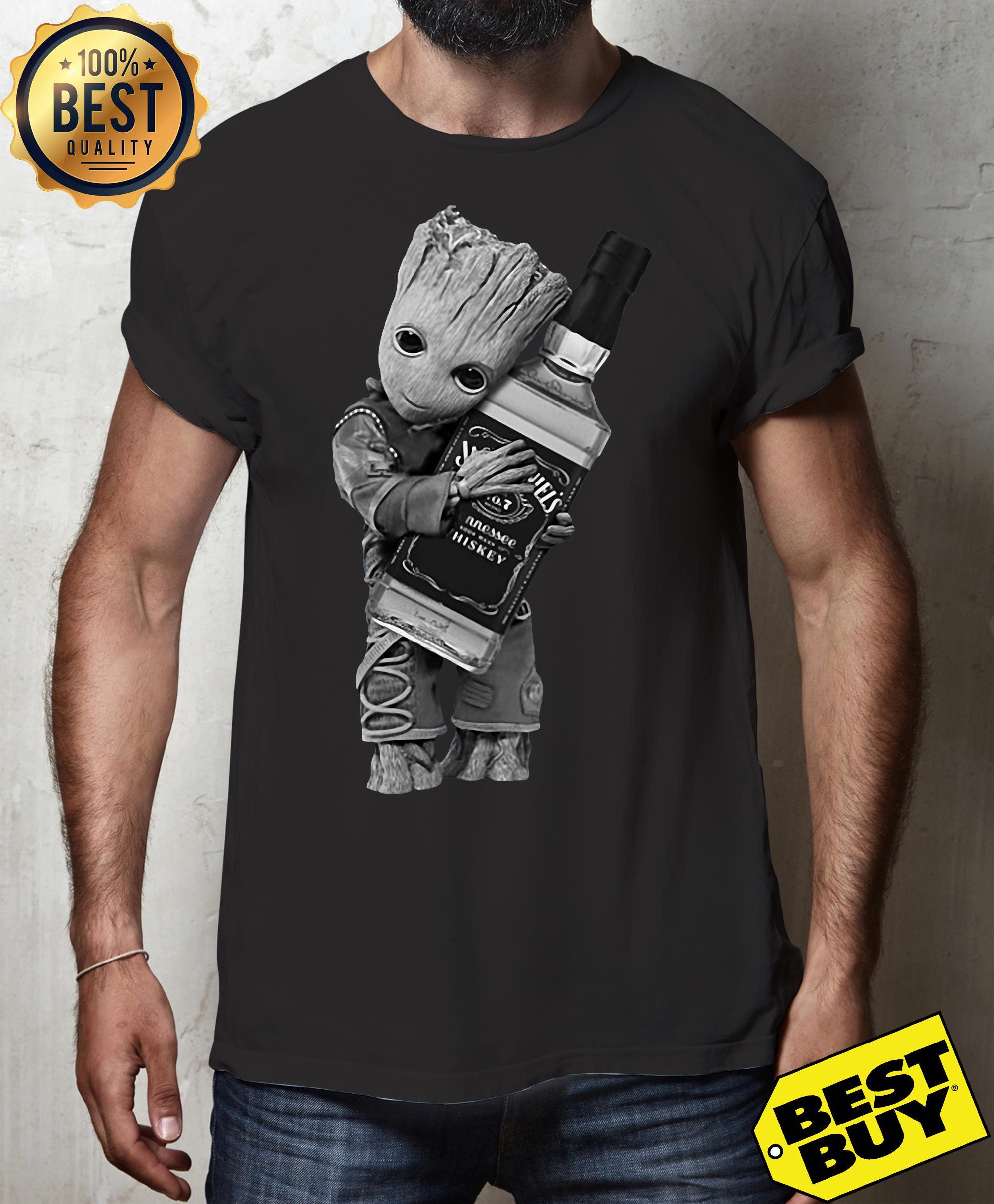 Guardians of the Galaxy Groot hug Jack Daniel's shirt