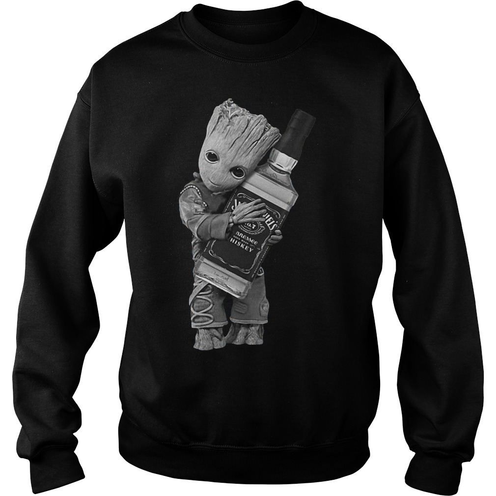 Guardians of the Galaxy Groot hug Jack Daniel's sweatshirt