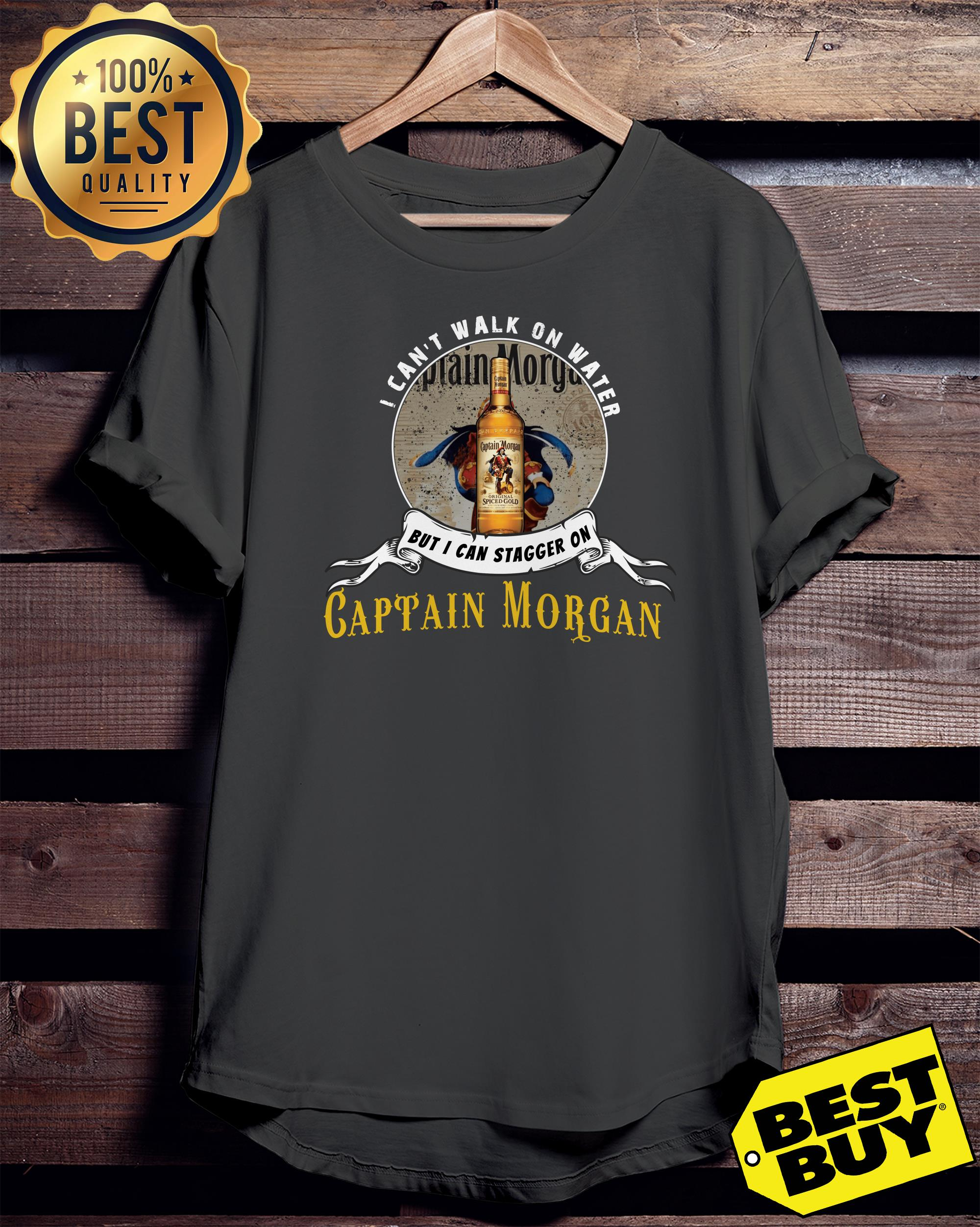 I can not walk on water but I can stagger on Captain Morgan tank top