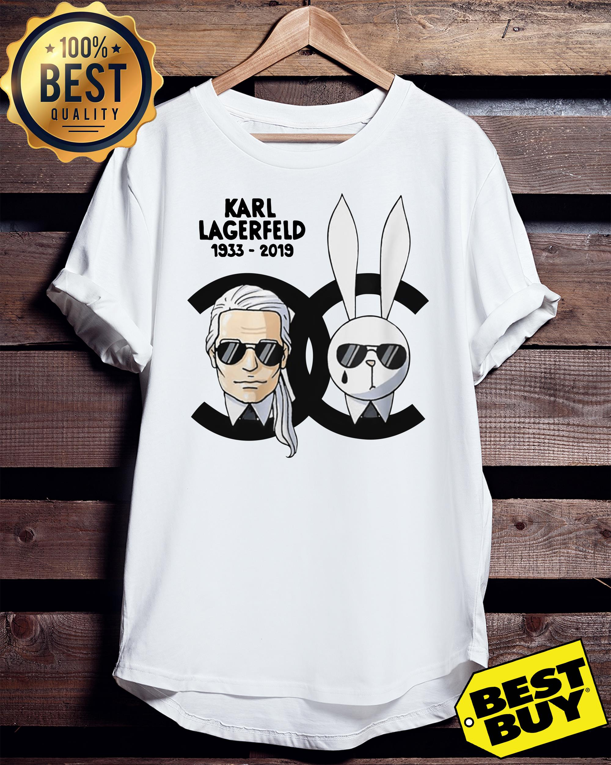 Rip Karl Lagerfeld 1933-2019 and rabbit Chanel ladies tee
