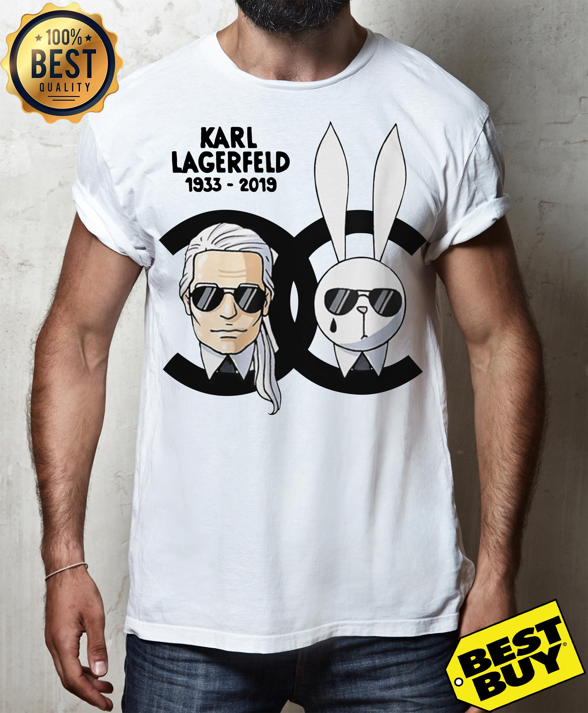 Rip Karl Lagerfeld 1933-2019 and rabbit Chanel shirt