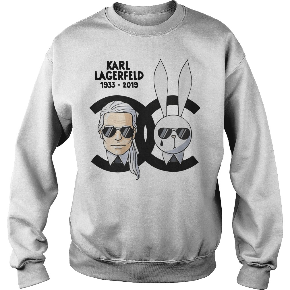Rip Karl Lagerfeld 1933-2019 and rabbit Chanel sweatshirt