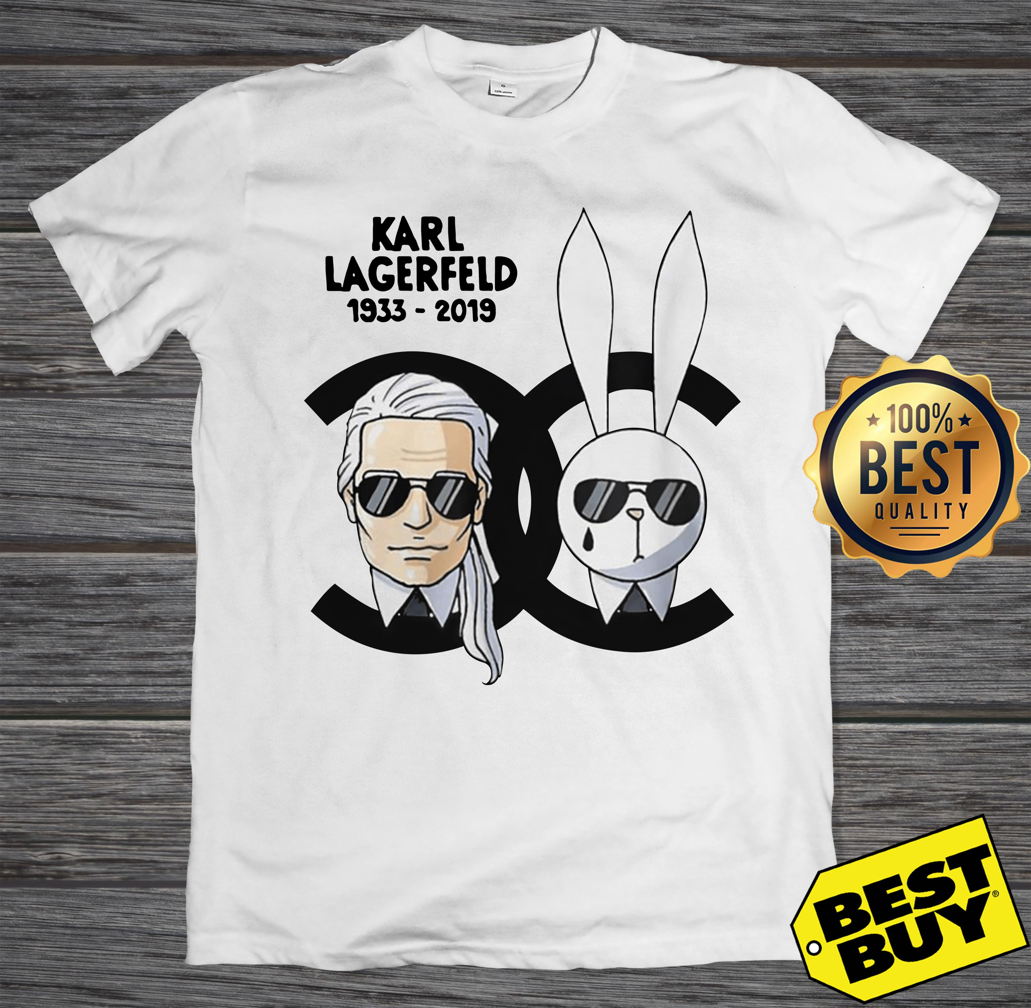 Rip Karl Lagerfeld 1933-2019 and rabbit Chanel tank top