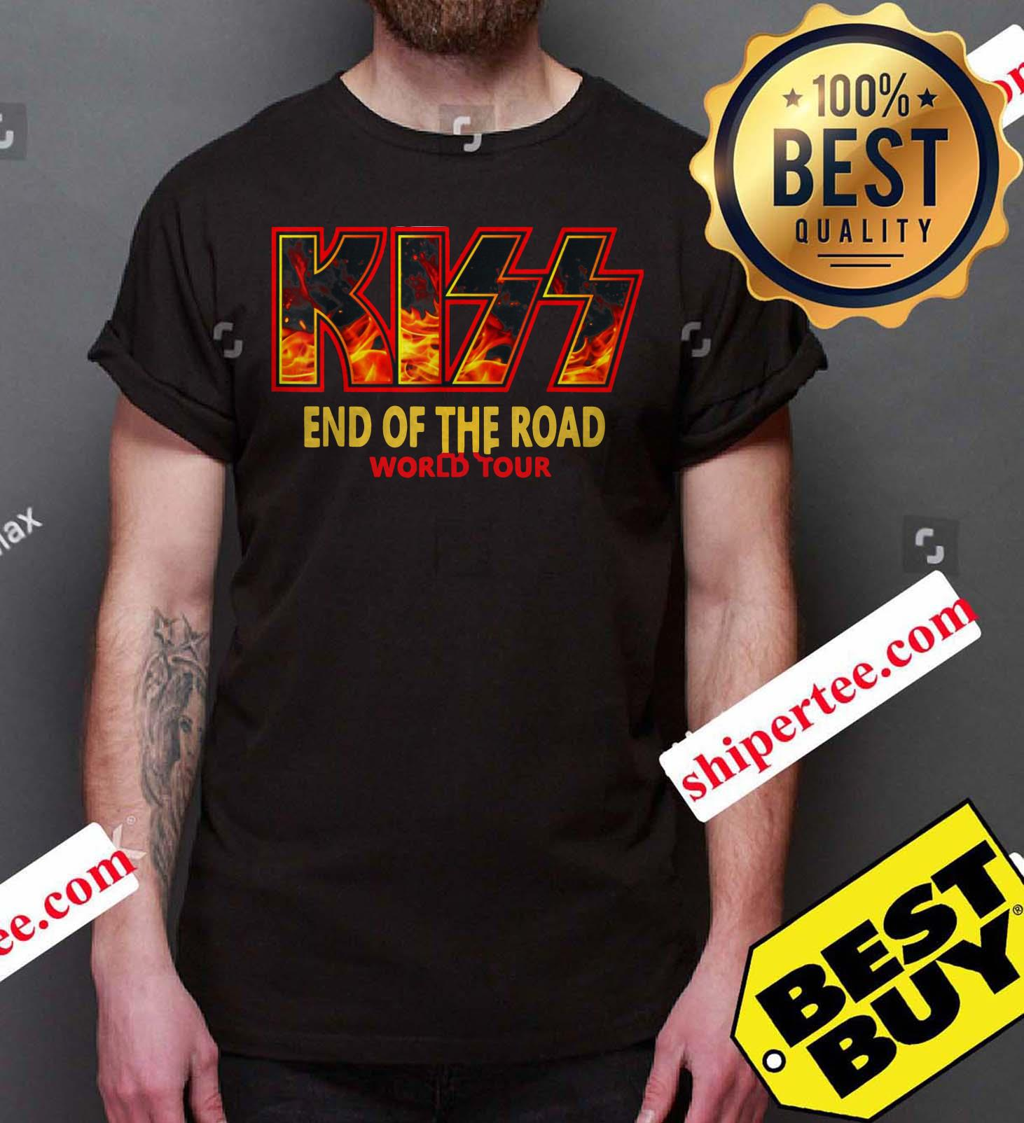 """Kiss """"End of the Road"""" Farewell Tour Dates 2019 shirt"""