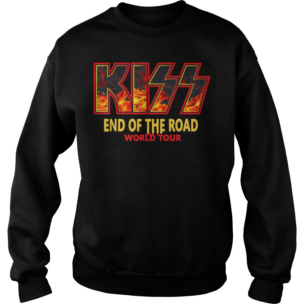 """Kiss """"End of the Road"""" Farewell Tour Dates 2019 sweatshirt"""