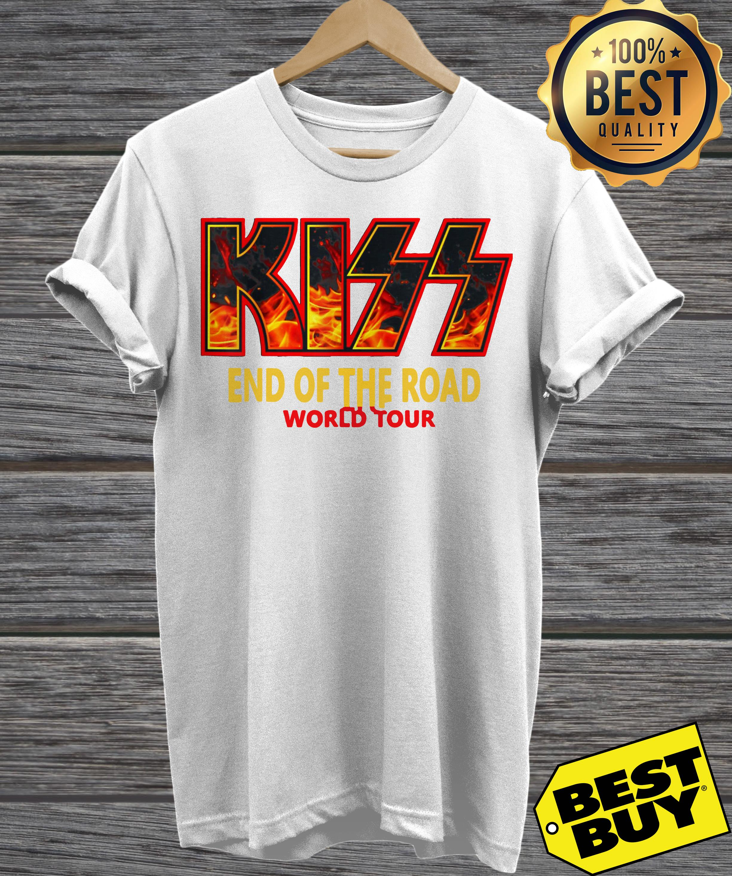 """Kiss """"End of the Road"""" Farewell Tour Dates 2019 v-neck"""