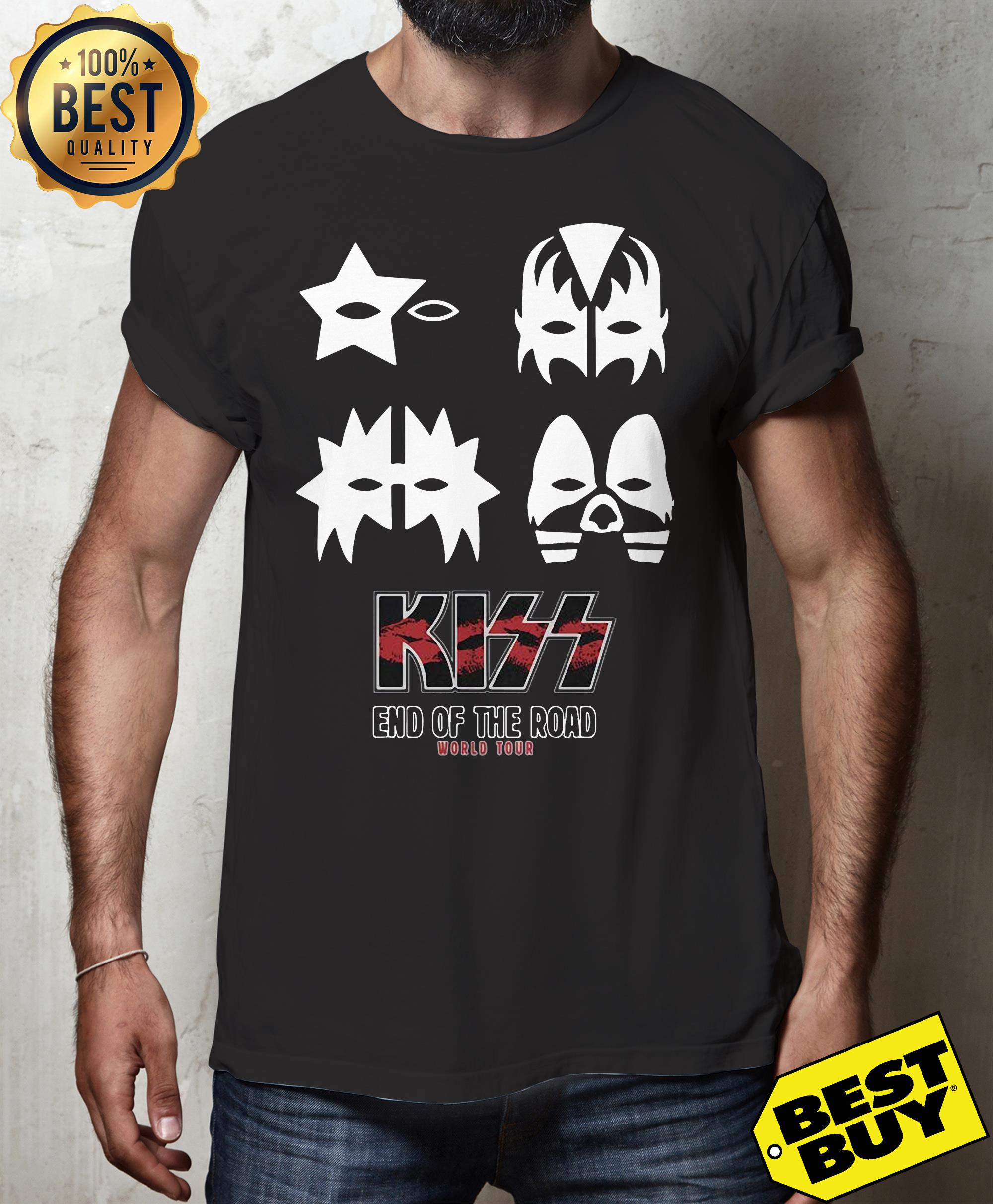 KISS end of the road world tour funny tank top