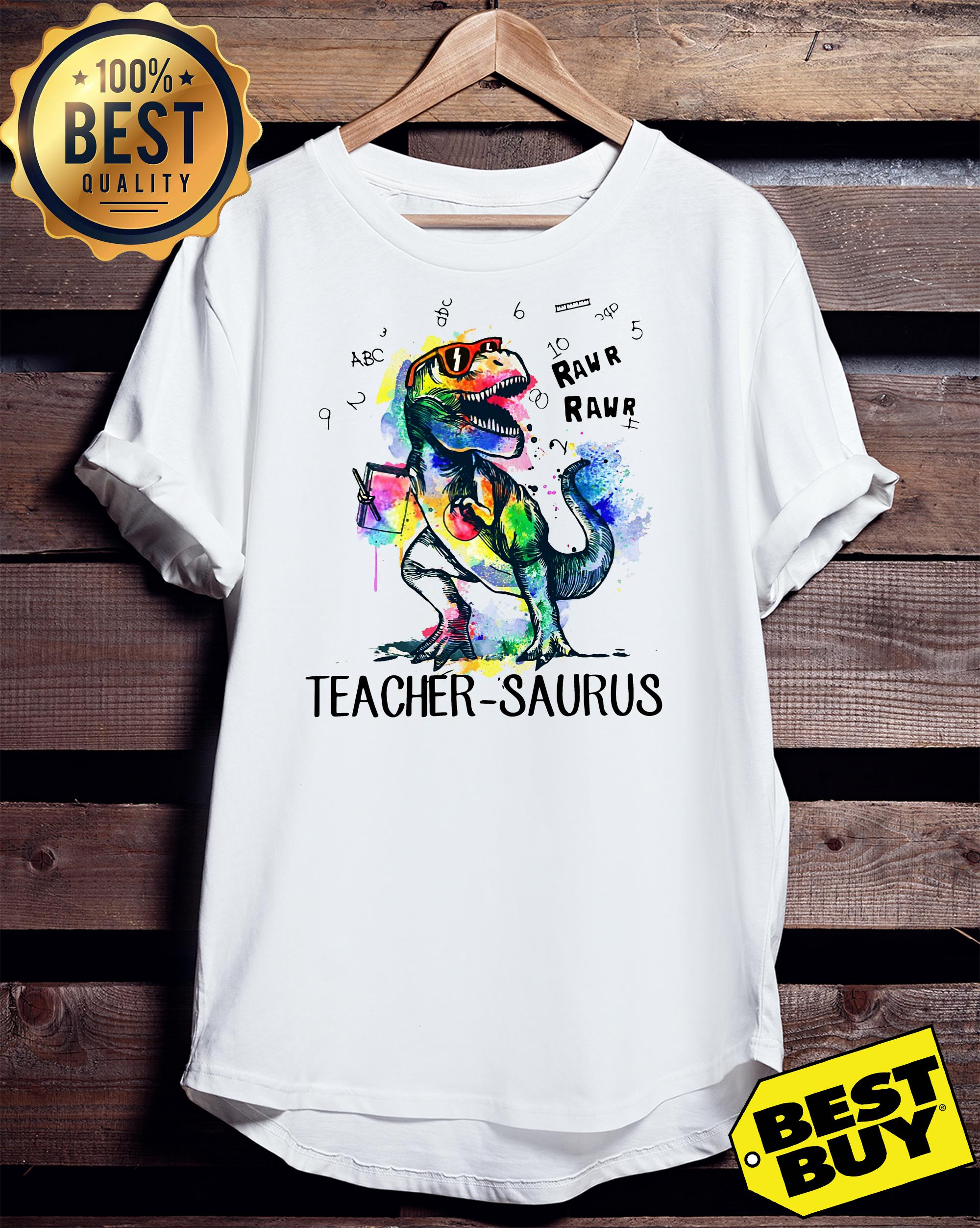 LGBT Dinosaur Trex teacher Saurus raw ladies tee