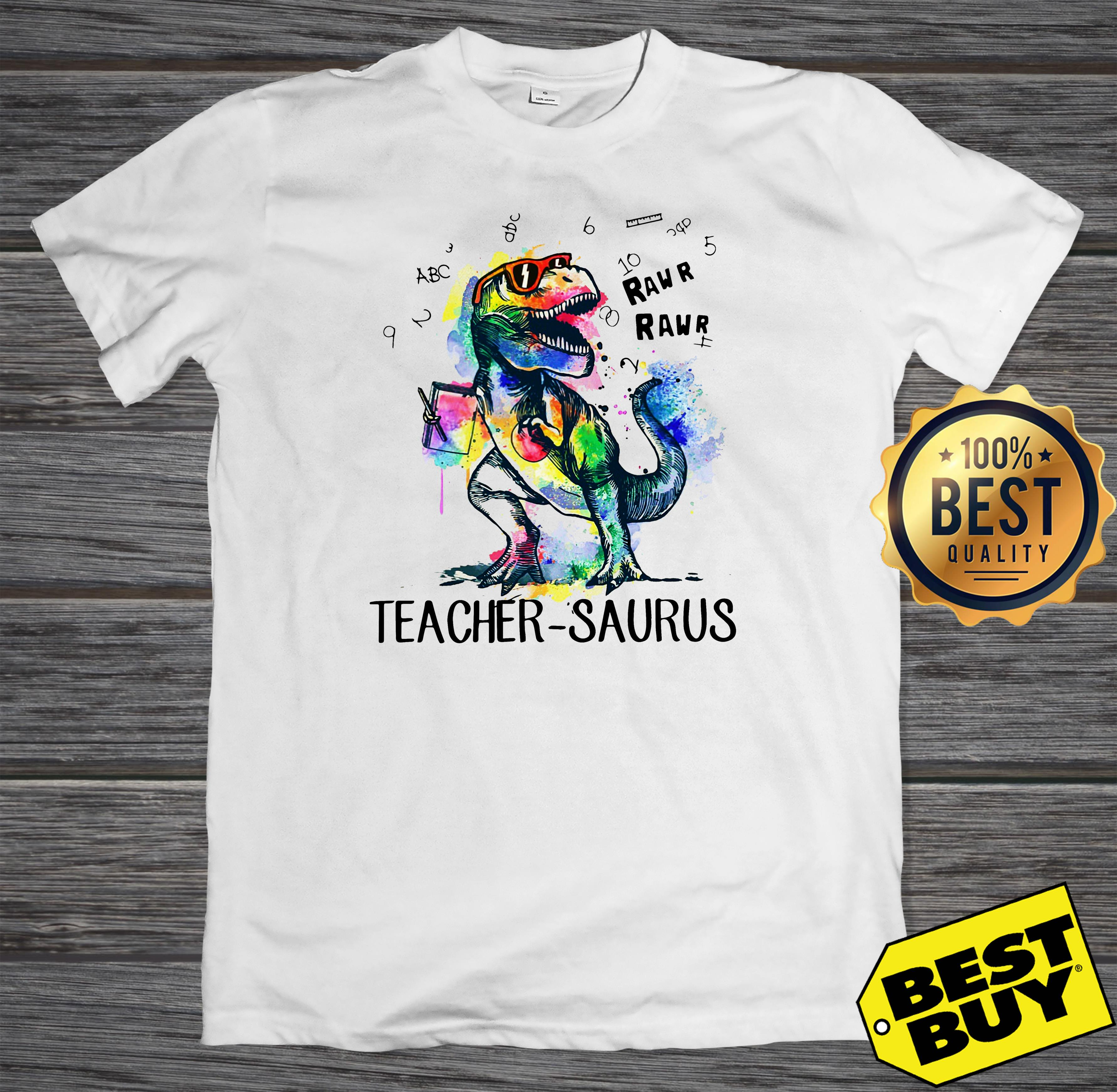 LGBT Dinosaur Trex teacher Saurus raw tank top