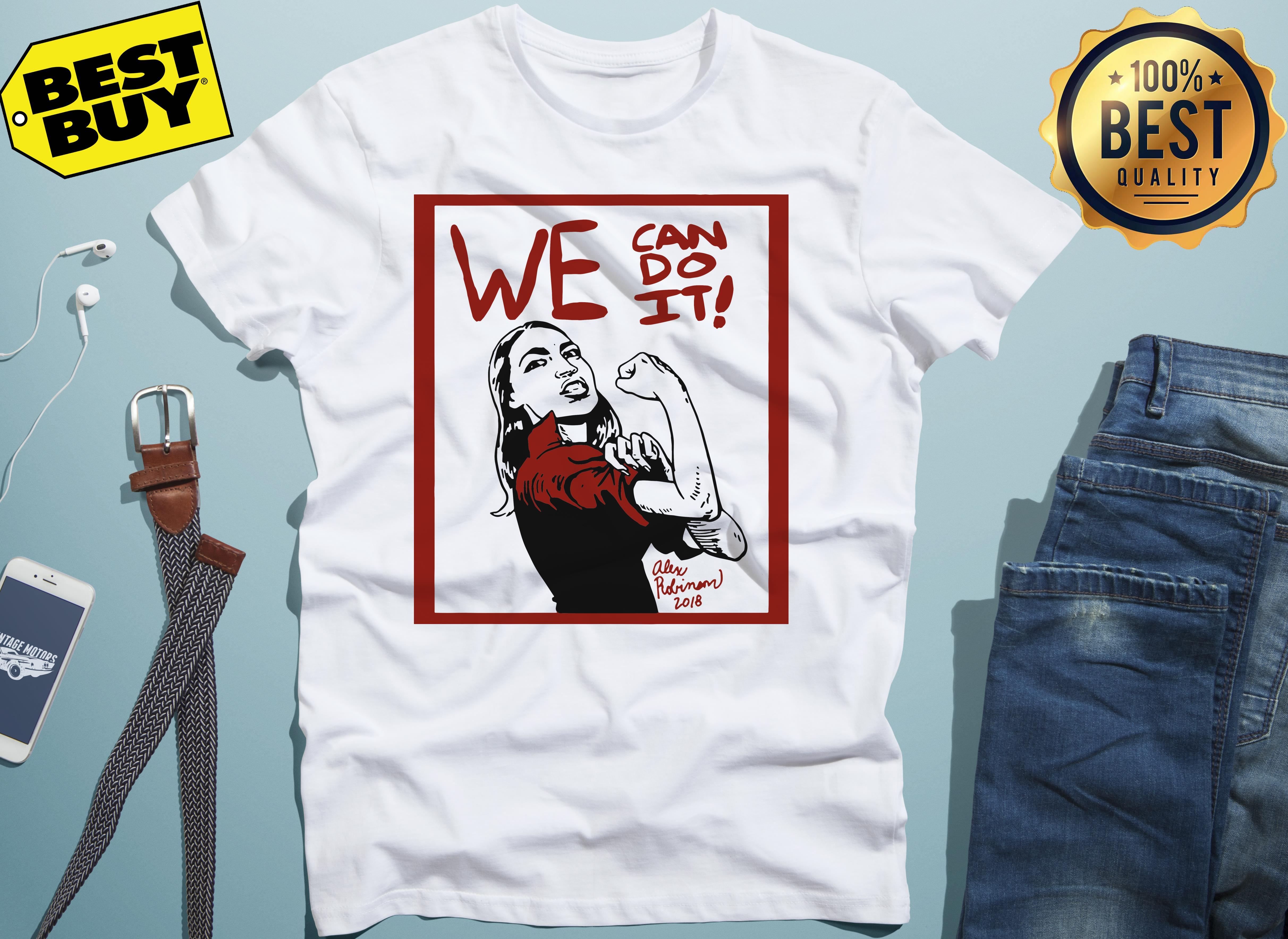 Official AOC we can do it funny v-neck