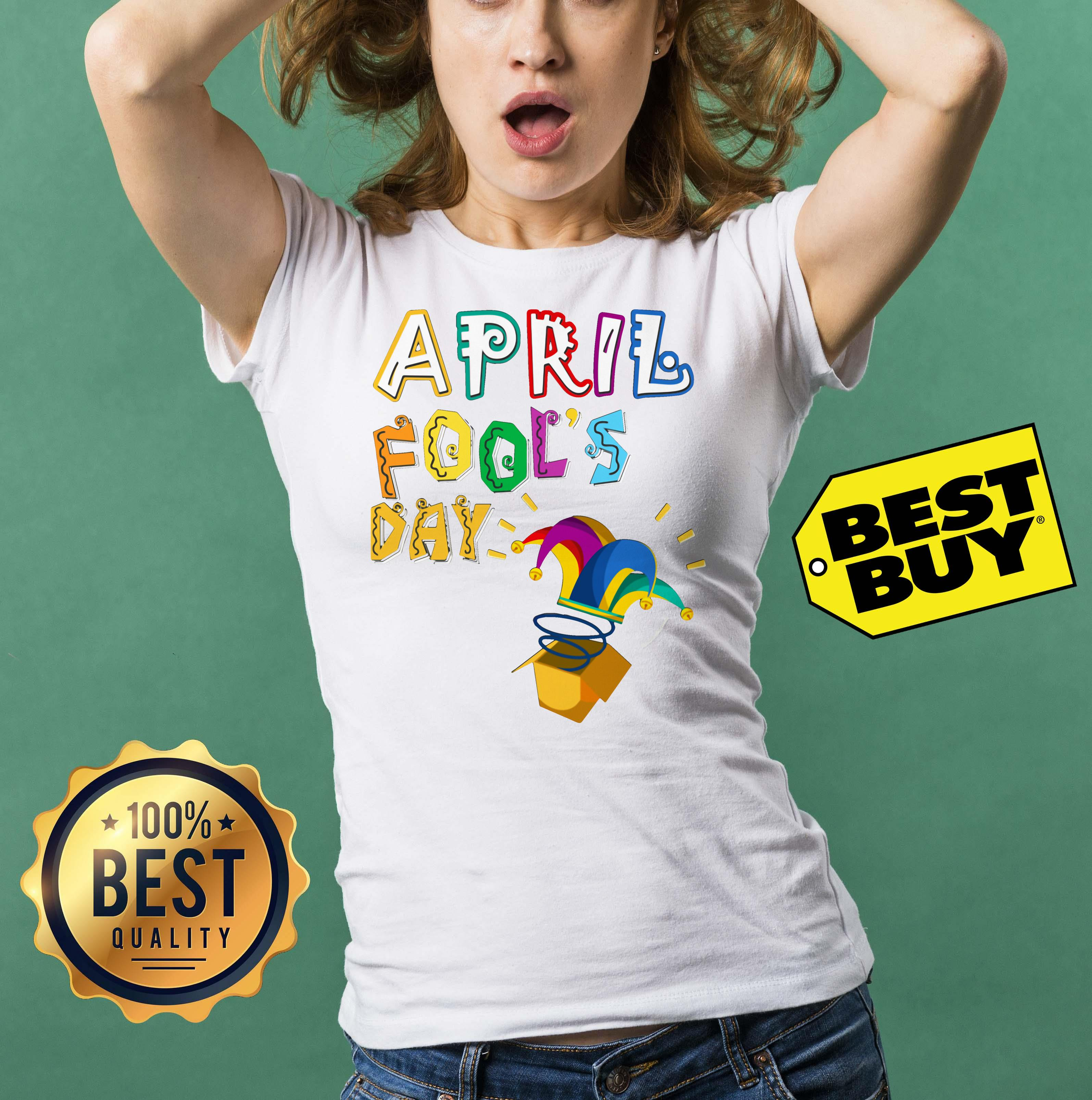 Official April Fools Day Clown ladies tee