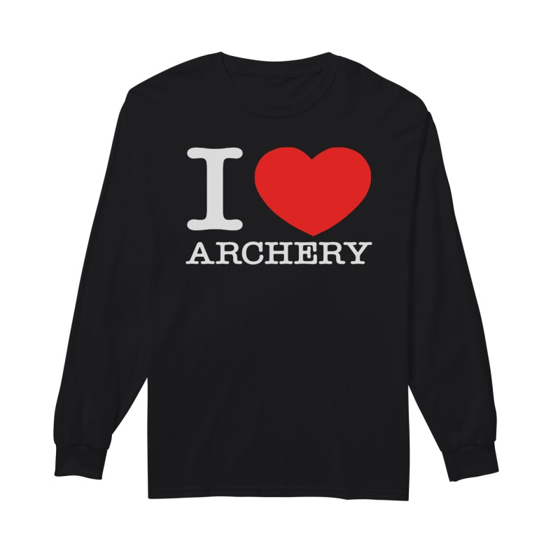 Official I love archery long sleeve