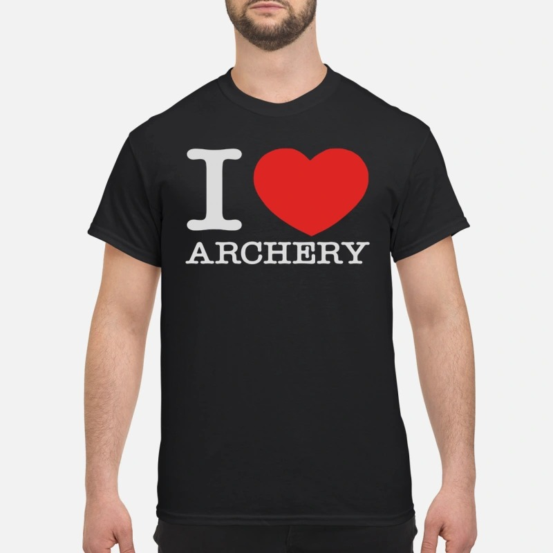 Official I love archery shirt