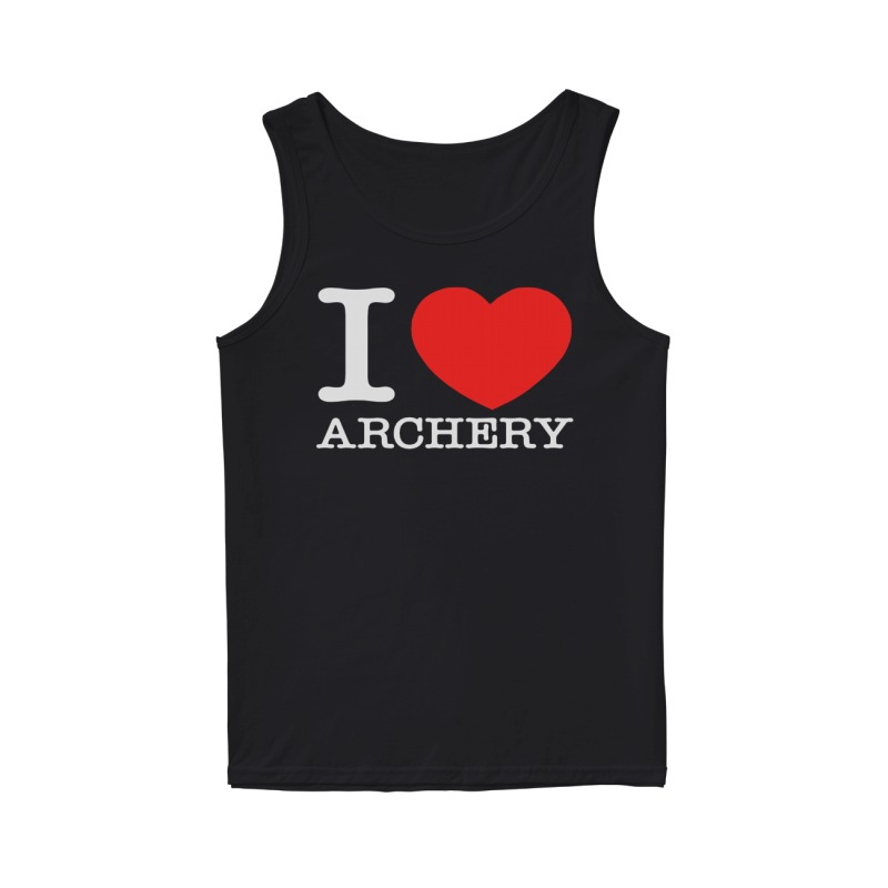 Official I love archery tank top
