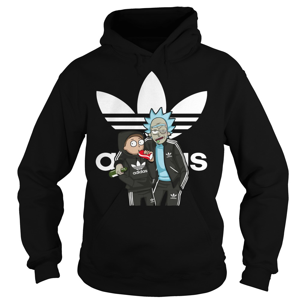 Official Rick And Morty Adidas funny hoodie