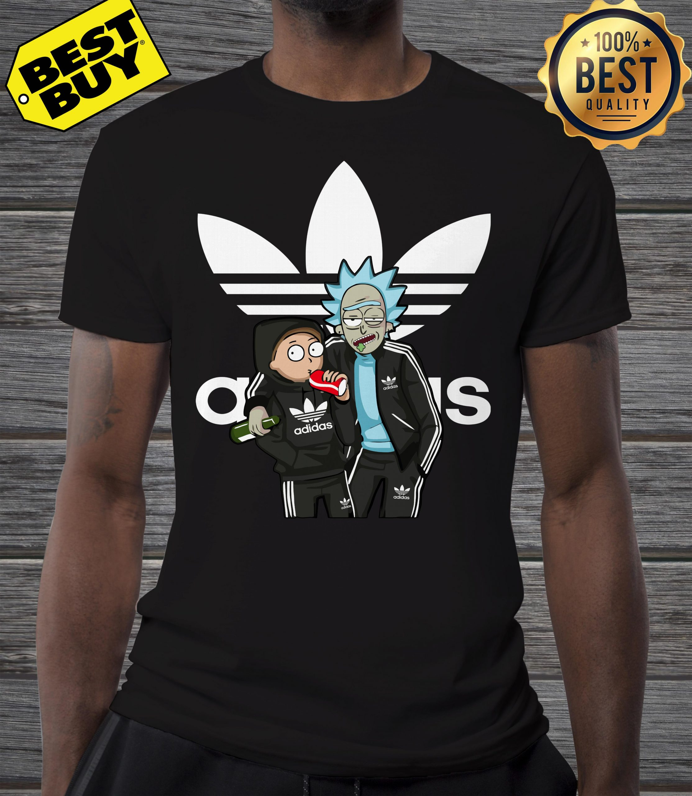 Official Rick And Morty Adidas funny shirt