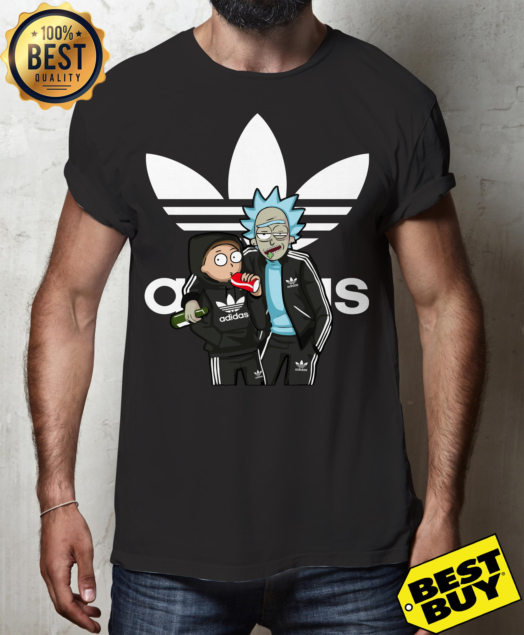 Official Rick And Morty Adidas funny tank top