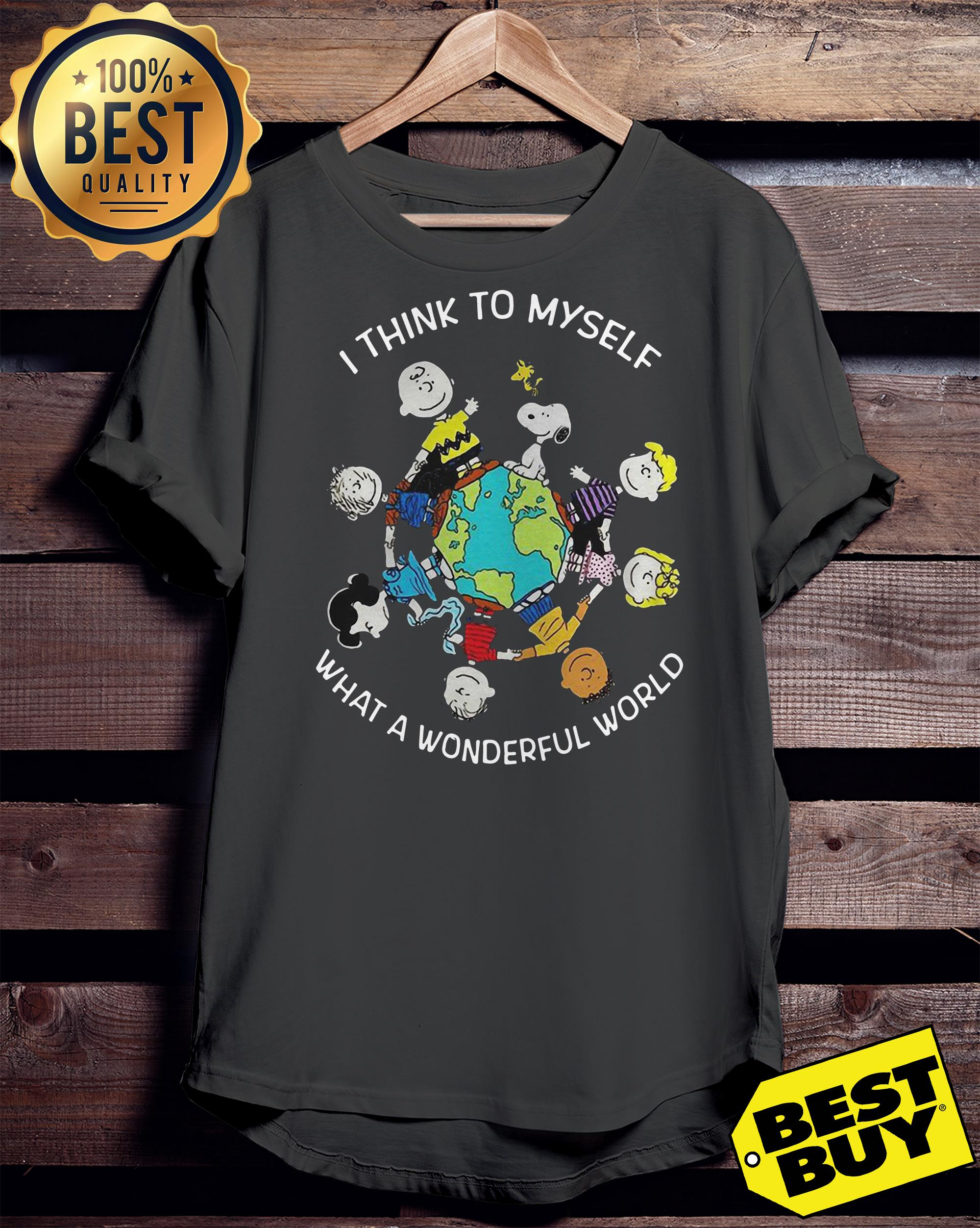 Snoopy and friends I think to myself what a wonderful world ladies tee
