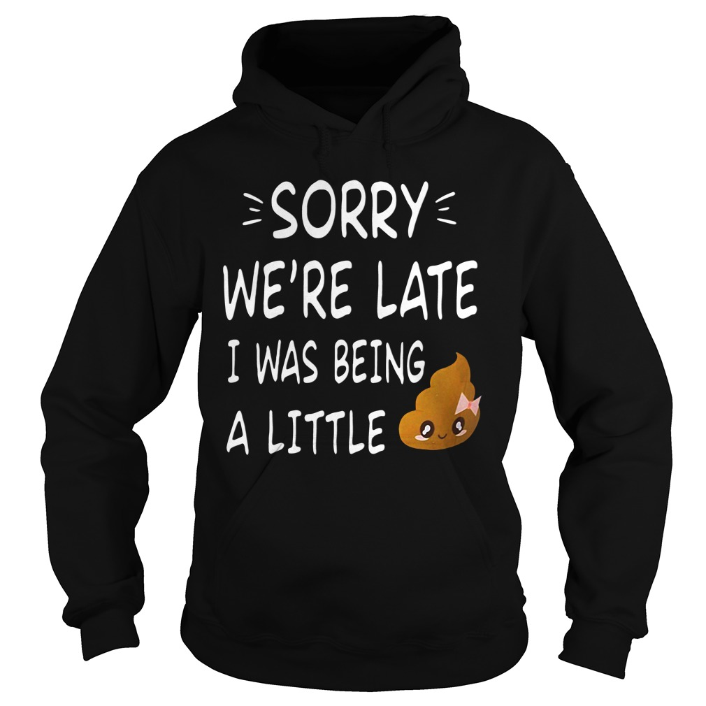 Sorry We're late I was being a little shit funny hoodie