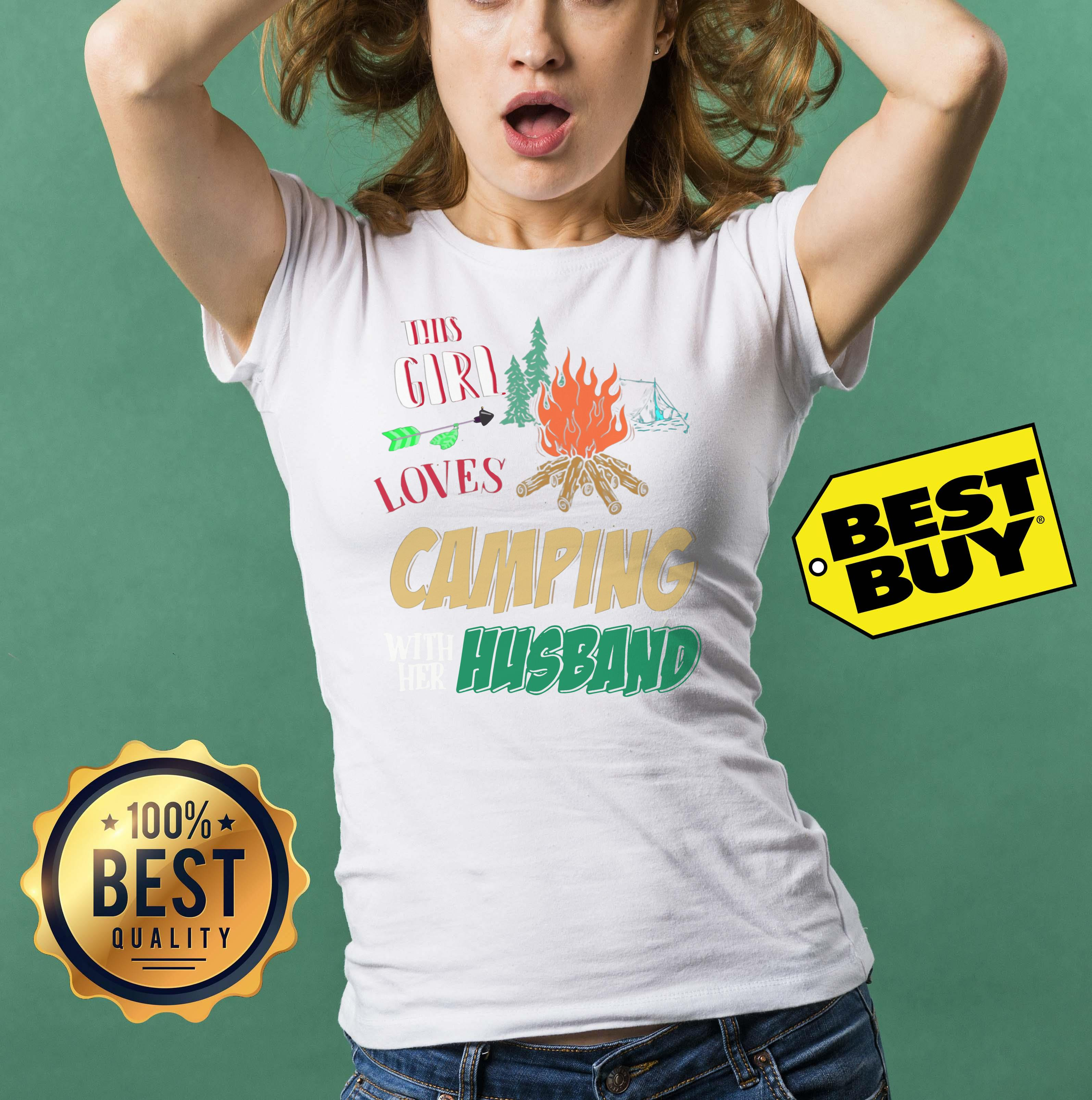 This Girl Loves Camping With Her Husband funny ladies tee