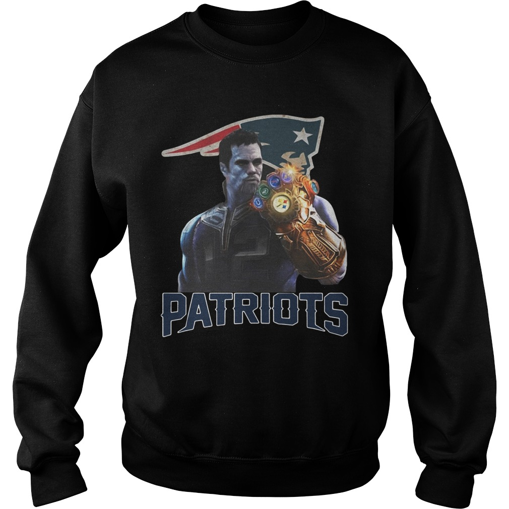 Tom Brady #12 Thanos infinity gauntlet Patriots funny sweatshirt