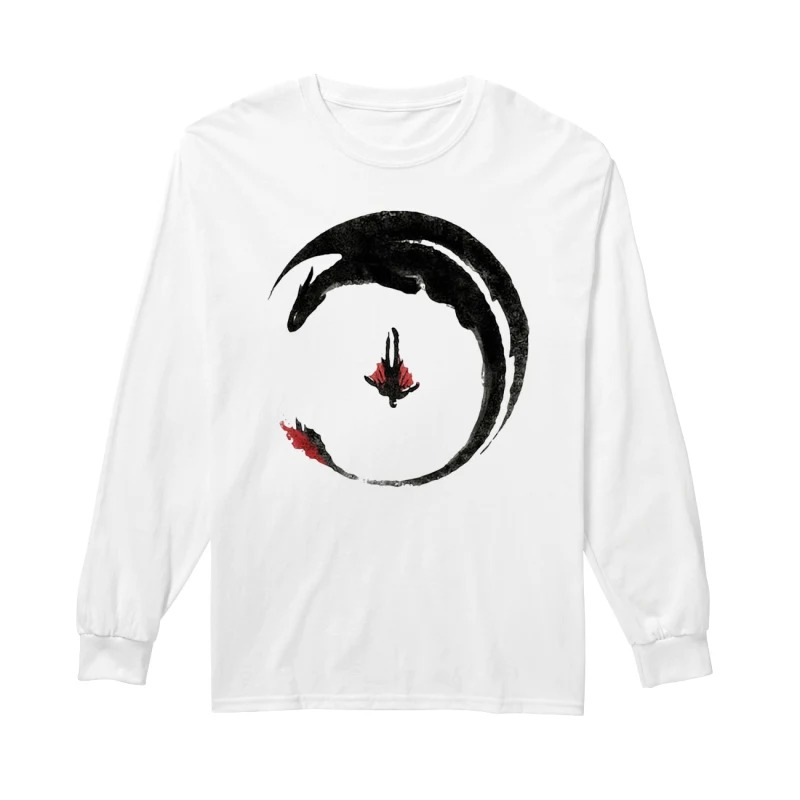 Toothless Dragon Tattoo Viking Dragon Hiccup How to Train Your Dragon long sleeve